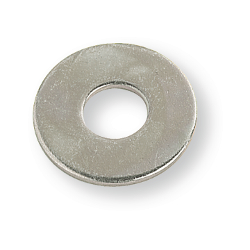 Large outside diameter washer 8.4X30X3 zinc-plated